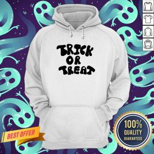 Trick Or Treat Calligraphy Orange & Black Halloween Hoodie