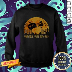Witches With Hitches Halloween Camping Gift Sweatshirt