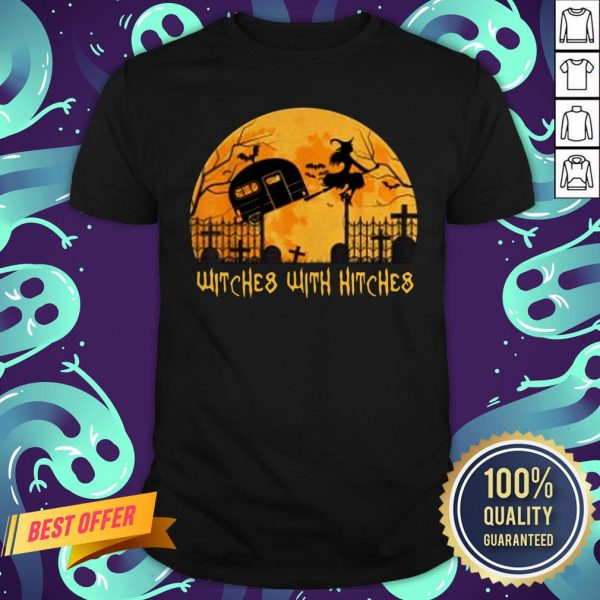 Witches With Hitches Halloween Camping Gift T-Shirt