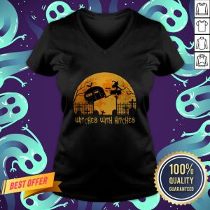 Witches With Hitches Halloween Camping Gift V-neck