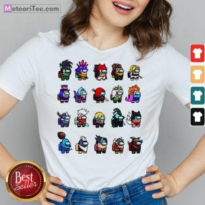 Funny Among Us X League Of Legends Games V-neck- Design by Meteoritee.com