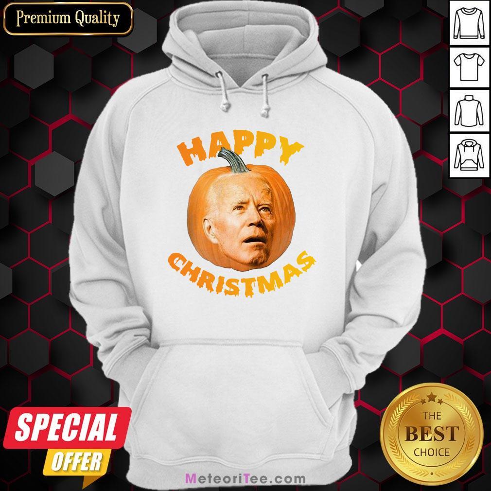 Funny Joe Biden Pumpkin Happy Christmas Hoodie - Design by Meteoritee.com