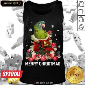 Funny Parrot Ornament Decoration Christmas Tree Tee Xmas Gifts Tank Top- Design by Meteoritee.com