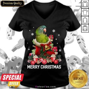 Funny Parrot Ornament Decoration Christmas Tree Tee Xmas Gifts V-neck- Design by Meteoritee.com
