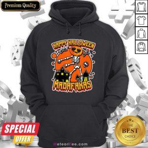 Funny Pew Pew Boo Boo Madafakas Cool Pumpkin Happy Halloween Hoodie- Design by Meteoritee.com