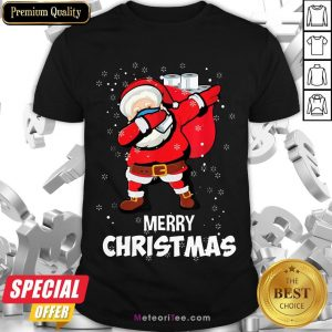 Funny Santa Dabbing Mask Toilet Paper Funny Christmas Shirt- Design by Meteoritee.com