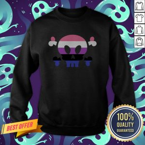 Genderfluid LGBT Pride Skull Halloween Sweatshirt