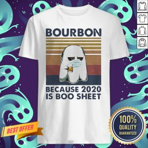 Ghost Mask Bourbon Because 2020 Is Boo Sheet Vintage Retro Shirt