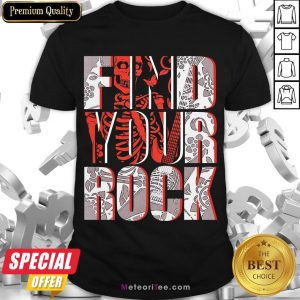 Good Find Your Rock Skeleton Halloween Shirt- Design by Meteoritee.com