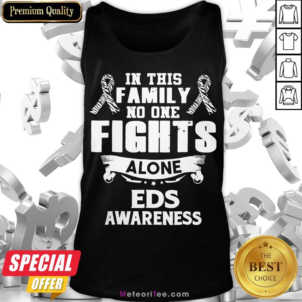 Good No One Fights Alone Eds Awareness Tank Top- Design by Meteoritee.com
