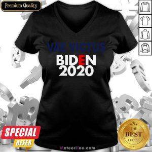 Good Vae Victis Biden 2020 V-neck- Design by Meteoritee.com