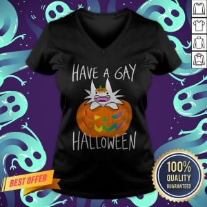 I Have Gay Ghost Pumpkin Halloween V-neck