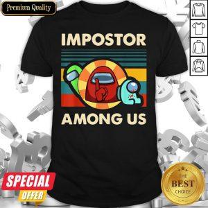Impostor Among Us Funny Vintage Game Sus Shirt