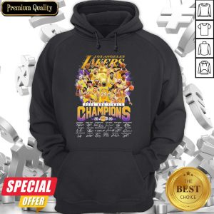 Los Angeles Lakers 2020 NBA Finals Champions Signatures Hoodie