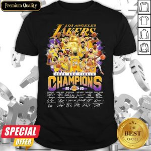 Los Angeles Lakers 2020 NBA Finals Champions Signatures Shirt