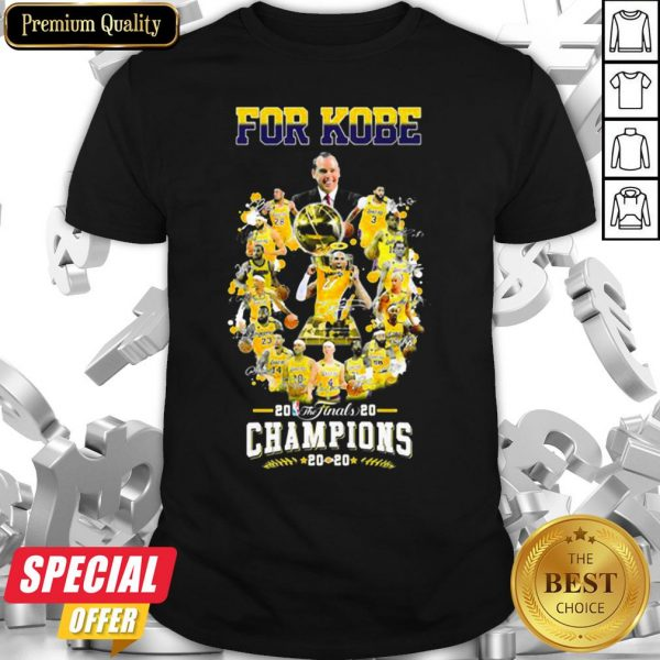 Los Angeles Lakers For Kobe 2020 The Finals Champions Shirt