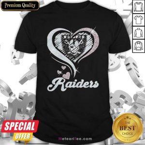 Love Oklahoma Raiders Logo Hearts Diamond Shirt