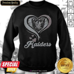 Love Oklahoma Raiders Logo Hearts Diamond Sweatshirt