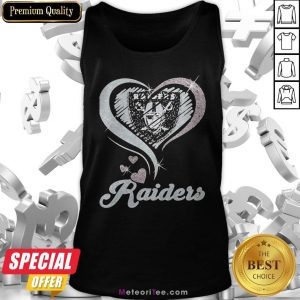 Love Oklahoma Raiders Logo Hearts Diamond Tank Top