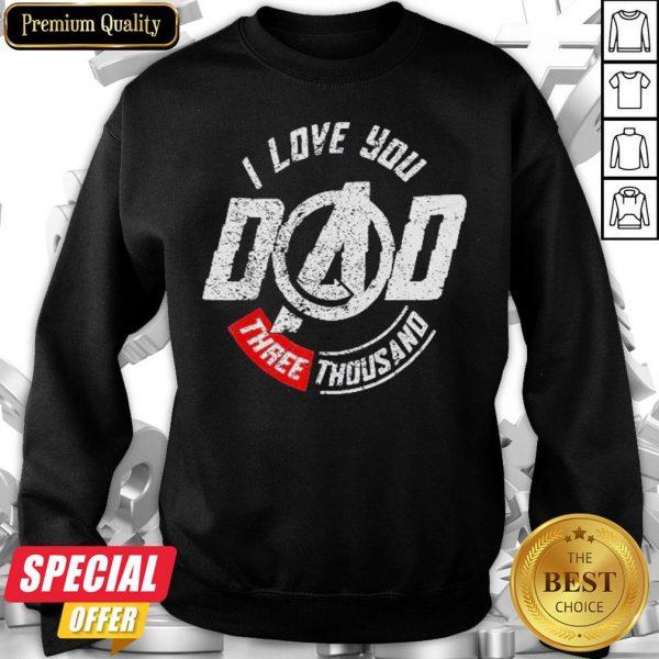 Marvel Avengers Endgame Iron Man I Love You 3000 Sweatshirt