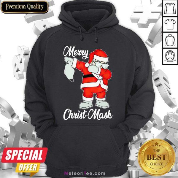 Nice 2020 Santa Claus Dabbing Merry Christmas Hoodie- Design by Meteoritee.com