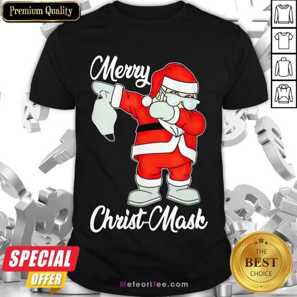 Nice 2020 Santa Claus Dabbing Merry Christmas Shirt- Design by Meteoritee.com