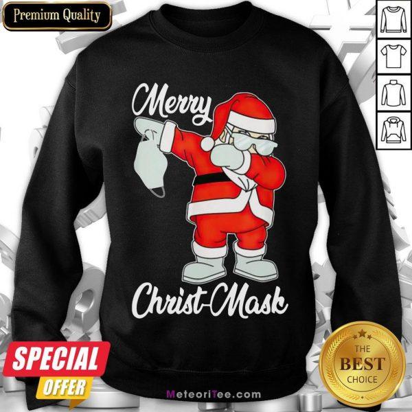 Nice 2020 Santa Claus Dabbing Merry Christmas Sweatshirt- Design by Meteoritee.com