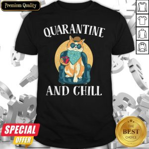Nice Cat Quarantine And Chill 2020 Shirt