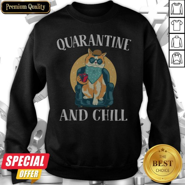 Nice Cat Quarantine And Chill 2020 Sweatshirt