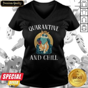 Nice Cat Quarantine And Chill 2020 V-neck