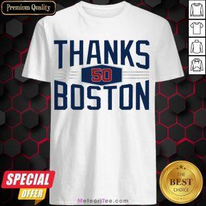 Nice Mookie Betts Thanks Boston 2020 Shirt- Design by Meteoritee.com