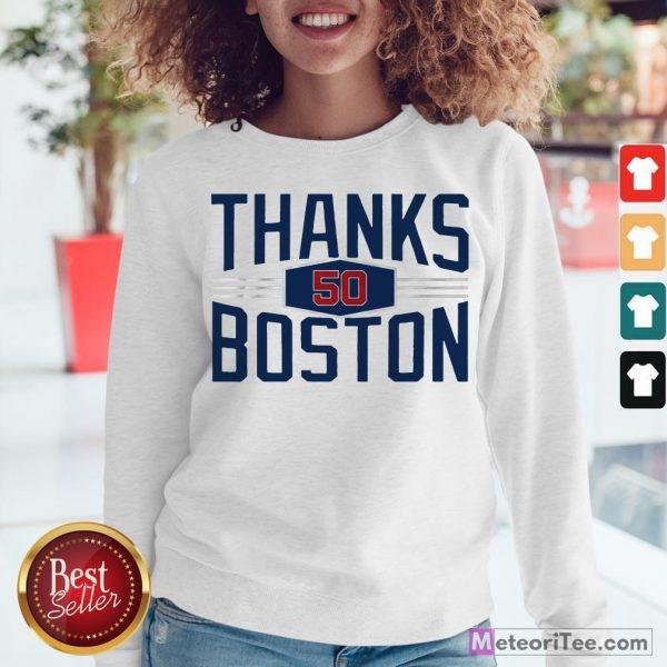 Nice Mookie Betts Thanks Boston 2020 Sweatshirt- Design by Meteoritee.com