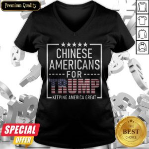 Official Chinese Americans For Trump Conservative Gift 2020 Election V-neck