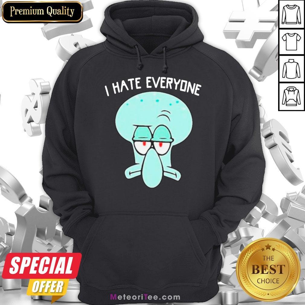 Official Squidward Tentacles I Hate Everyone Hoodie- Design by Meteoritee.com