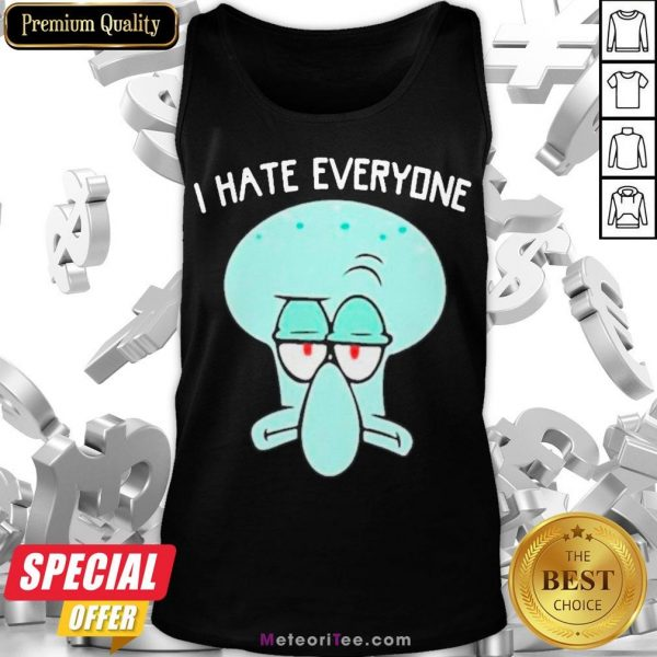 Official Squidward Tentacles I Hate Everyone Tank Top- Design by Meteoritee.com