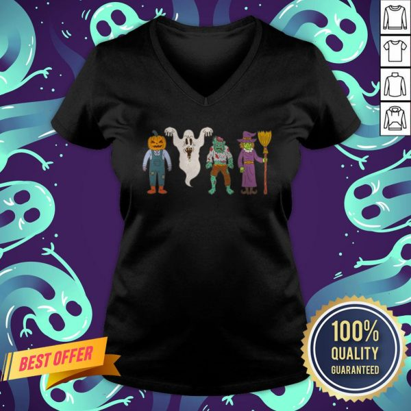 Party Friends Character Happy Halloween V-neck