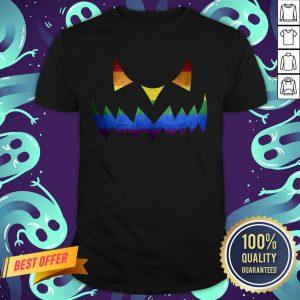 Scary LGBT Pumpkin Face Halloween Shirt