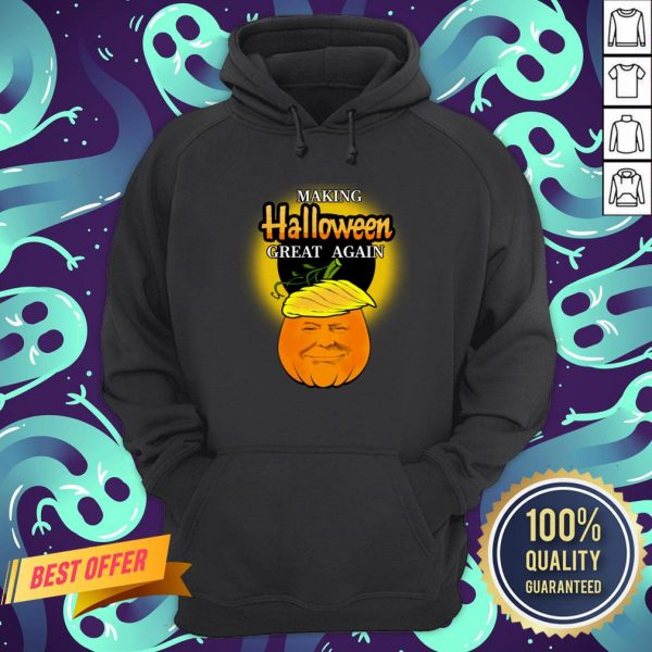 Trump 2020 Trumpkin Making Halloween Great Again Pumpkin Hoodie