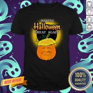 Trump 2020 Trumpkin Making Halloween Great Again Pumpkin Shirt