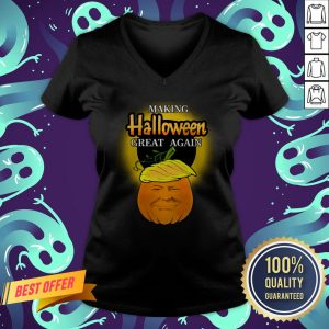 Trump 2020 Trumpkin Making Halloween Great Again Pumpkin V-neck