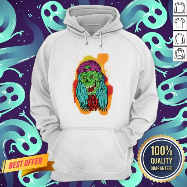 Zombie Chick Eat Your Heart Out Dia De Los Muertos Day Dead Hoodie