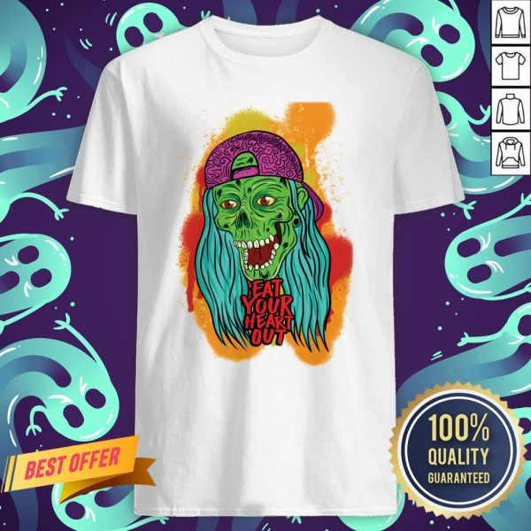 Zombie Chick Eat Your Heart Out Dia De Los Muertos Day Dead Shirt