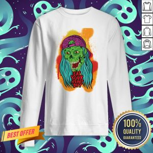 Zombie Chick Eat Your Heart Out Dia De Los Muertos Day Dead Sweatshirt