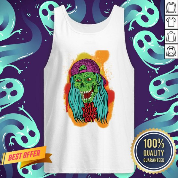 Zombie Chick Eat Your Heart Out Dia De Los Muertos Day Dead Tank Top