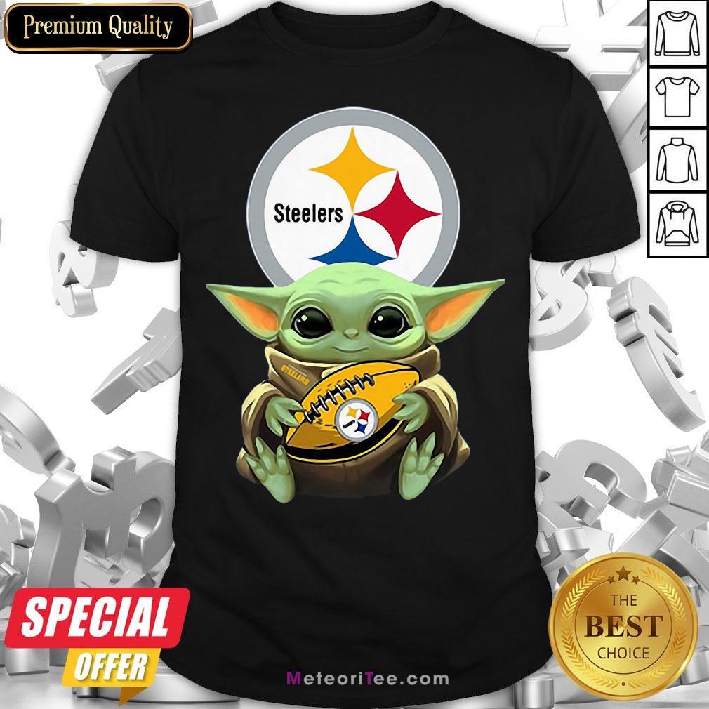 Awesome Baby Yoda Steelers Hug Rugby Shirt