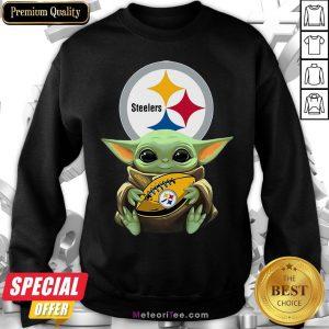 Awesome Baby Yoda Steelers Hug Rugby Sweatshirt