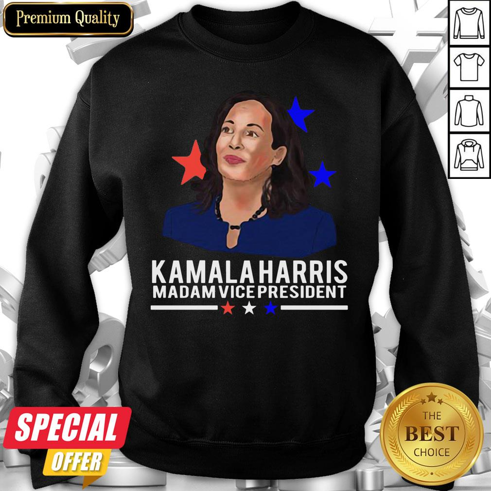 Awesome Madam Vice President Kamala Harris Short-Sleeve Sweatshirt