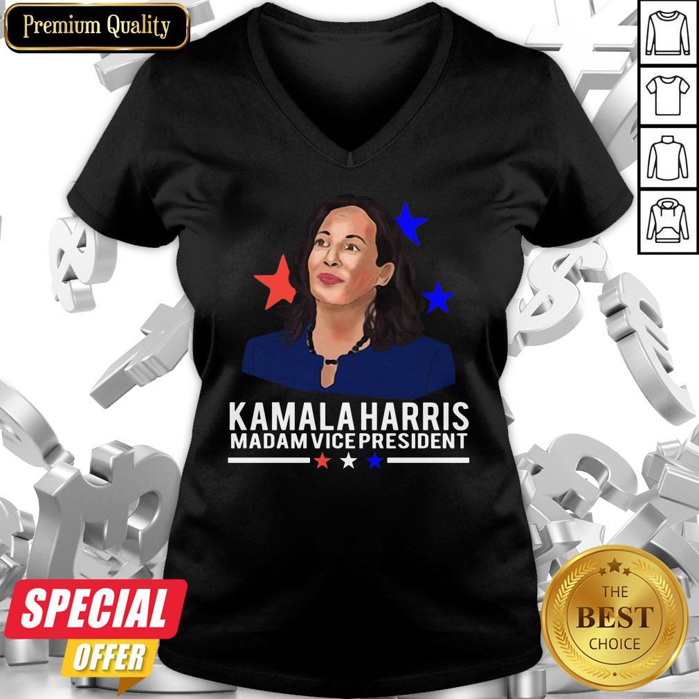 Awesome Madam Vice President Kamala Harris Short-Sleeve V-neck