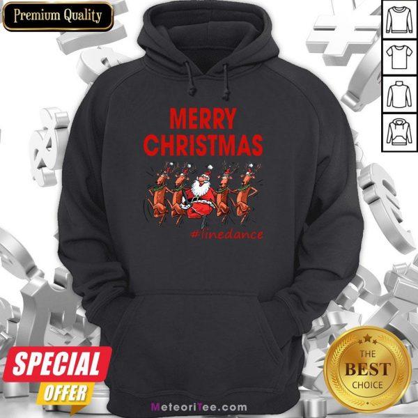 Awesome Santa Clau Merry Christmas Line Dancing Hoodie