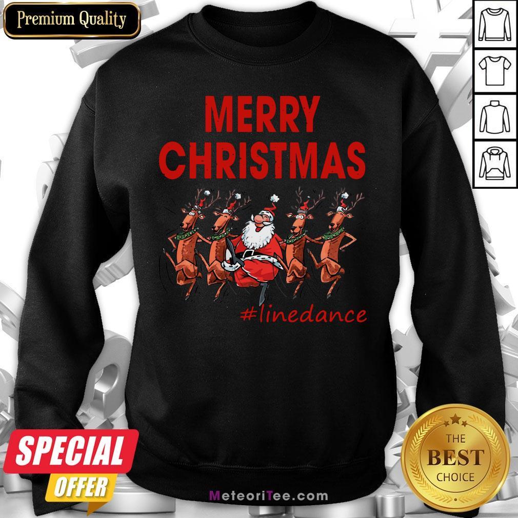 Awesome Santa Clau Merry Christmas Line Dancing Sweatshirt